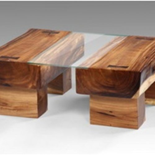 Balok Coffee Table With Glass