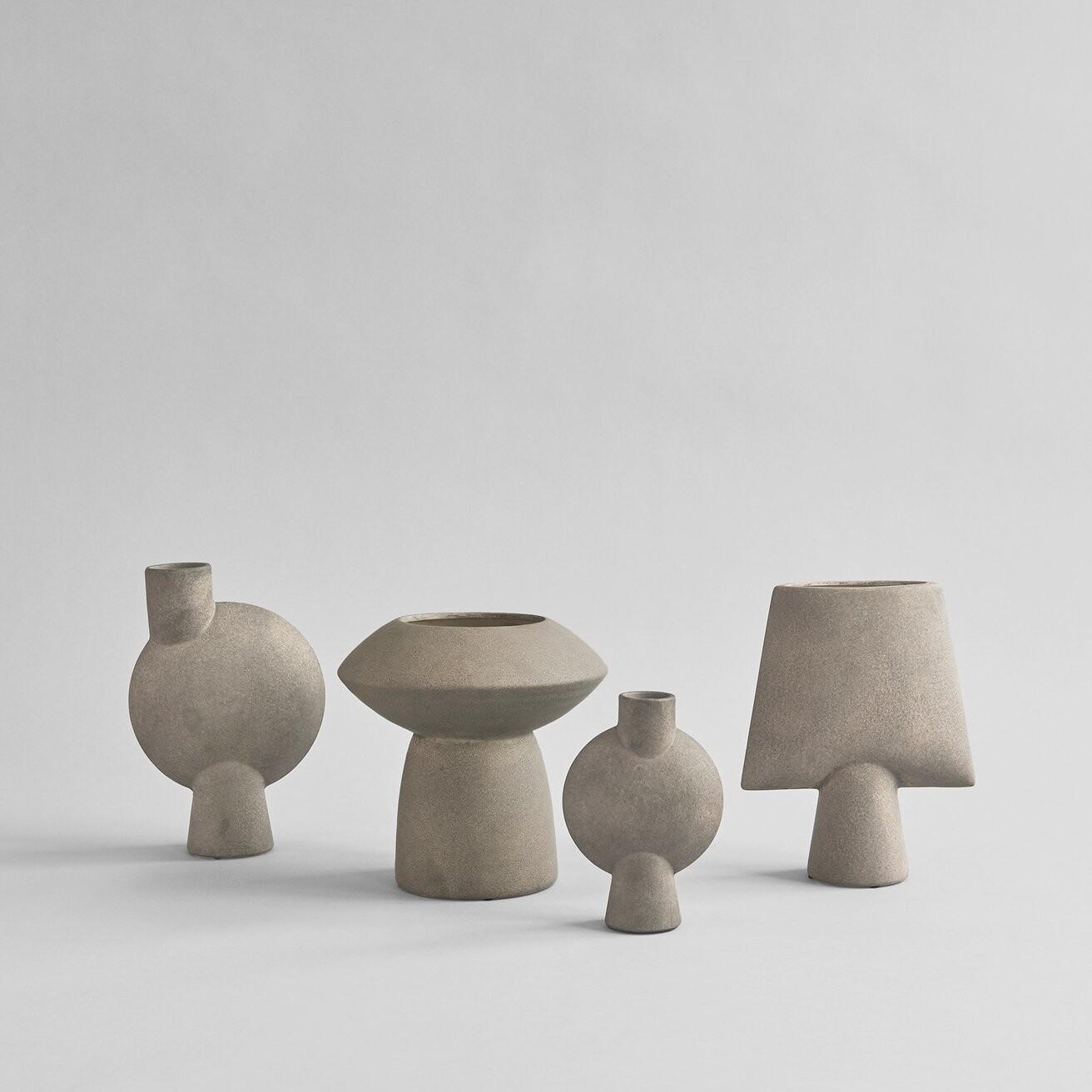 Sphere+Vase+Square%2C+Mini+-+Taupe